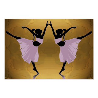 ballerinas in pink on gold FROM 14.95 Poster