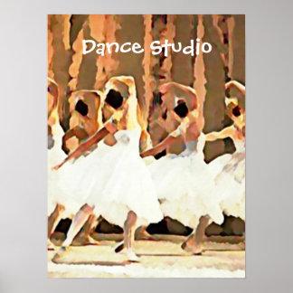 Ballerinas On Stage Ballet Dance Poster