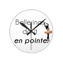 Ballerinas so it! round clock