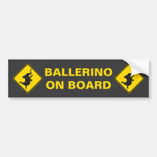 ¡Ballerino a bordo! Pegatina Para Auto