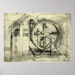 Ballesta accionada rueda de ardilla de Leonardo da Impresiones