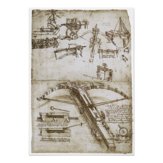 Ballesta gigante en las ruedas, Leonardo da Vinci Póster