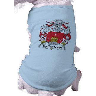 Ballesteros Family Crest Dog Tshirt