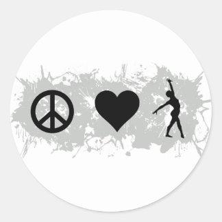 Ballet 1 round stickers
