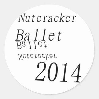 Ballet 2014 del cascanueces pegatina redonda