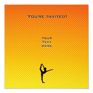 "Ballet amarillo-naranja invitación 5.25"" x 5.25"""