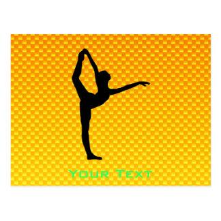 Ballet amarillo-naranja tarjetas postales