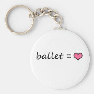 Ballet = amor llavero redondo tipo pin