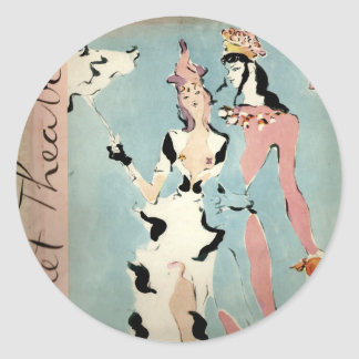 Ballet and Theatre Classic Round Sticker