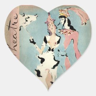 Ballet and Theatre Heart Sticker