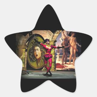 BALLET ANDROIDE, ciencia ficción Pegatina En Forma De Estrella