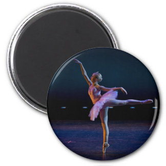 Ballet Arabesque 2 Inch Round Magnet