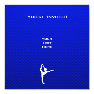 Ballet azul invitacion personalizada