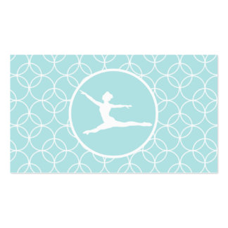 Ballet; Baby Blue Circles Business Cards