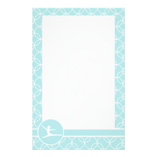 Ballet; Baby Blue Circles Stationery