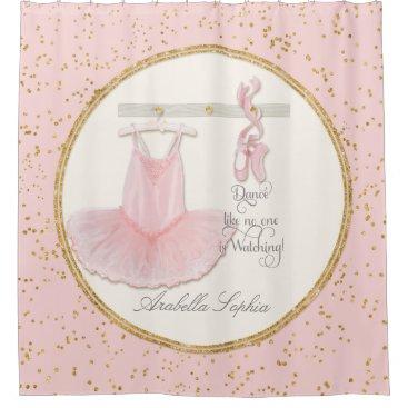 luxuryweddings Ballet Ballerina Dance Shoes Little Girl Decor Shower Curtain