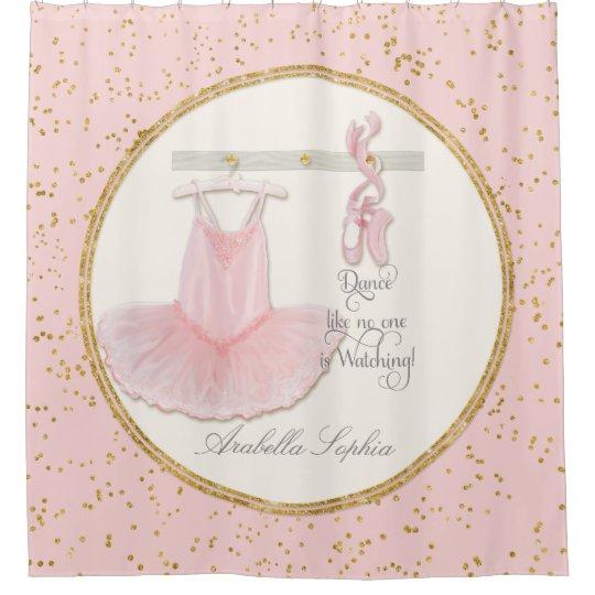 Ballet Ballerina Dance Shoes Little Girl Decor Shower Curtain ...