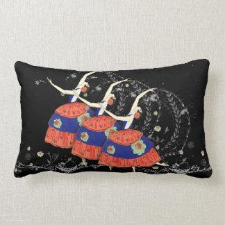 Ballet Ballerina Dance Throw Pillow (black)