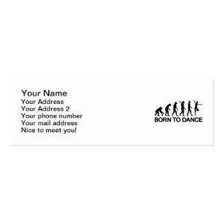 Ballet Ballerina evolution Business Card Templates