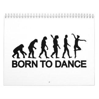 Ballet Ballerina evolution Calendar