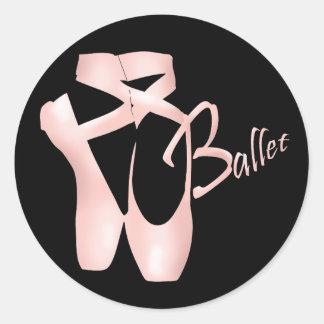 Ballet Ballerina Pink Pointe Shoes Sticker