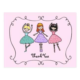 Ballet Ballerinas Thank You Postcard