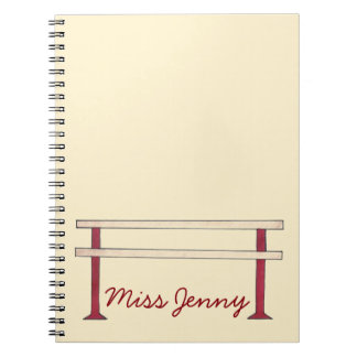 Ballet Barre Dance Teacher Personalized Notebook