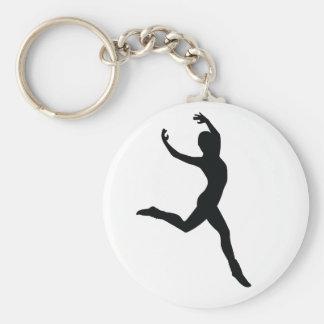 Ballet Basic Round Button Keychain