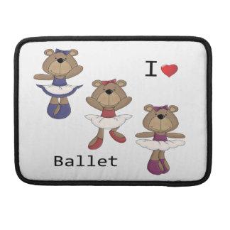 Ballet Bear Ballerina's Sleeves For MacBooks