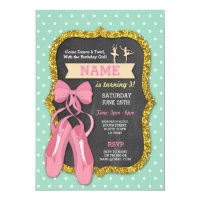 Ballet Birthday Party Tutu Ballerina Girls Invite