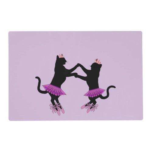Ballet Black Cats Placemat