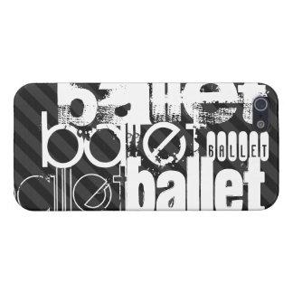 Ballet; Black & Dark Gray Stripes Case For iPhone SE/5/5s