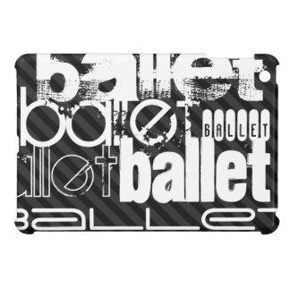 Ballet; Black & Dark Gray Stripes Case For The iPad Mini