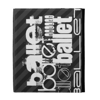 Ballet; Black & Dark Gray Stripes iPad Cases