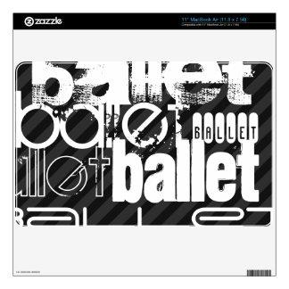 Ballet; Black & Dark Gray Stripes MacBook Air Decal