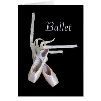 'Ballet' Blank Greeting Card