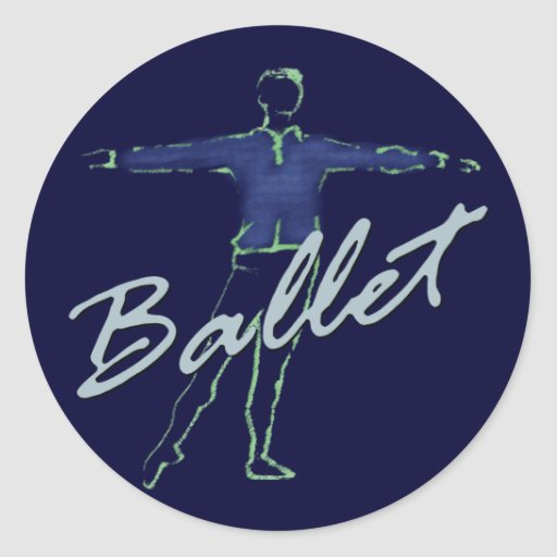 Ballet Boy Gifts for Dancers Classic Round Sticker