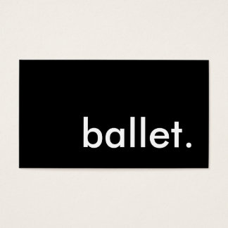 ballet. business card