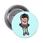 ballet butututon. pinback button