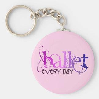 Ballet. Cada día Llavero Redondo Tipo Pin