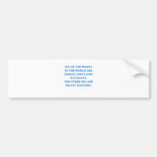 ballet etiqueta de parachoque