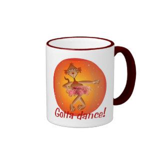 Ballet Cat Ringer Coffee Mug