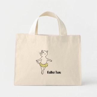 Ballet Cat (Yellow Tutu) Mini Tote Bag