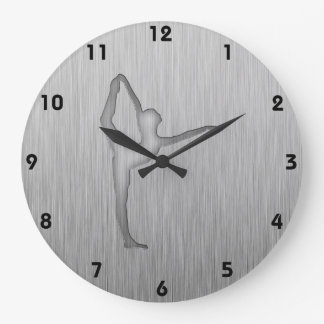 Ballet cepillado de la Metal-mirada Reloj Redondo Grande