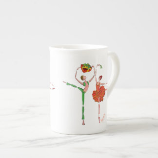 Ballet Christmas Gift , Mistletoe, Kitri and Ali Bone China Mug