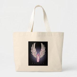 Ballet con alas bolsa tela grande