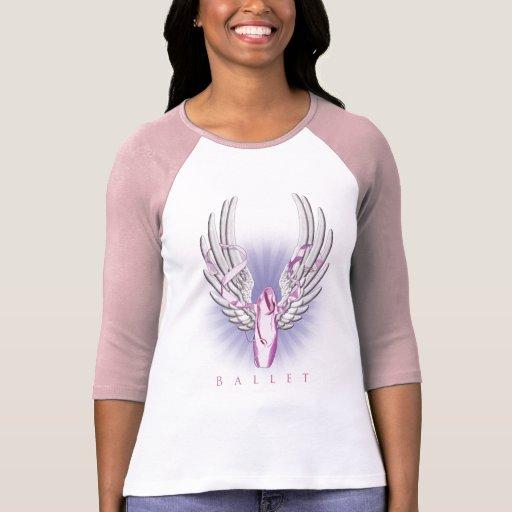 Ballet con alas camiseta