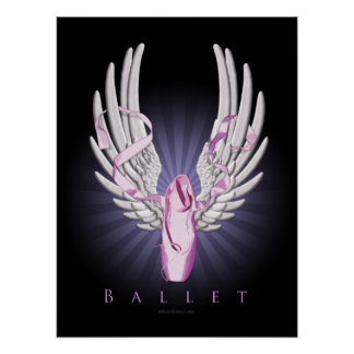 Ballet con alas impresiones