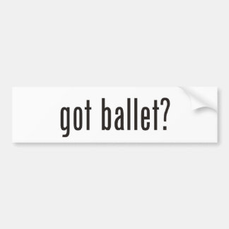 ¿ballet conseguido? pegatina para auto