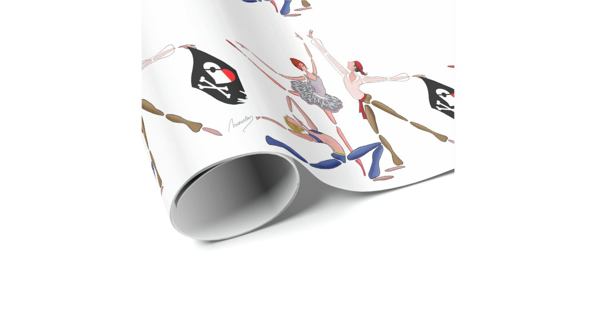 pirate wrapping paper